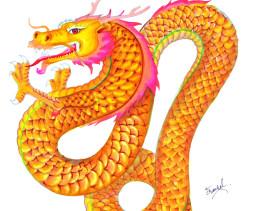 Dragon au marqueur Graph'It Brush par Frankel