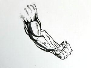 Etape 1 bras