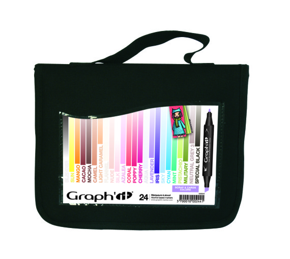 SETS Trousse Scrap & Cards colours
