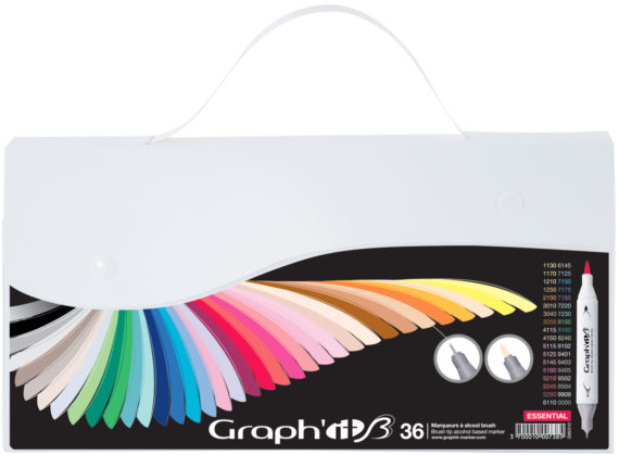 coffret 36 grap'hit brush