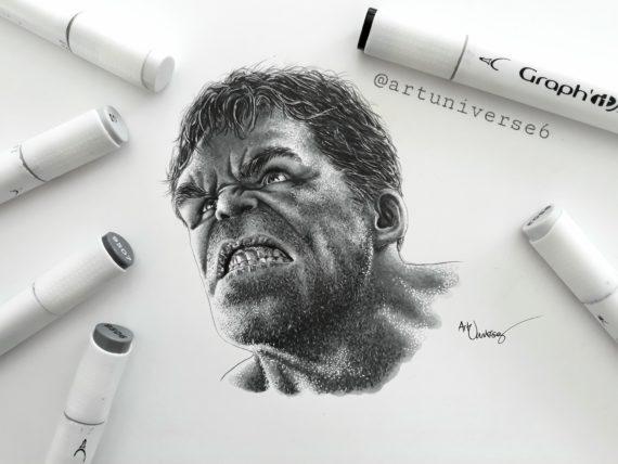 Réalisation Hulk GRAPH'IT