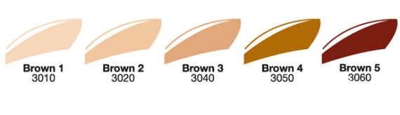 Nuancier bruns