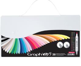 36 couleurs essentielles graphit brush