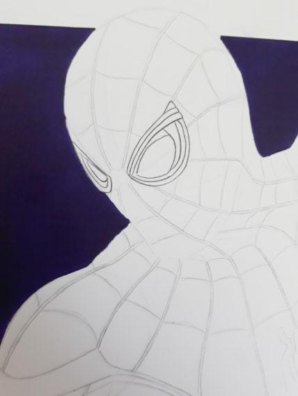 dessiner forme yeux spiderman