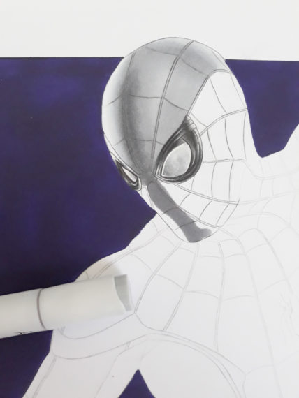 casque spiderman dessin