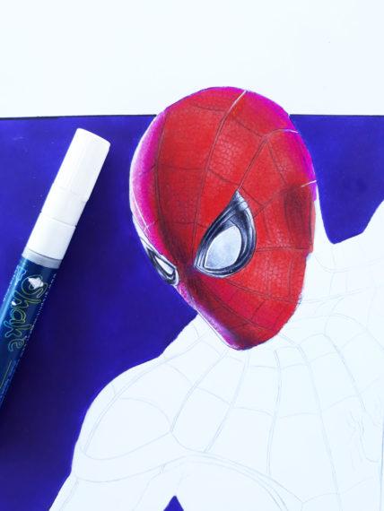 yeux spiderman tuto