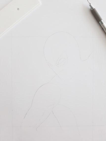 etape 3 crayonné spiderman