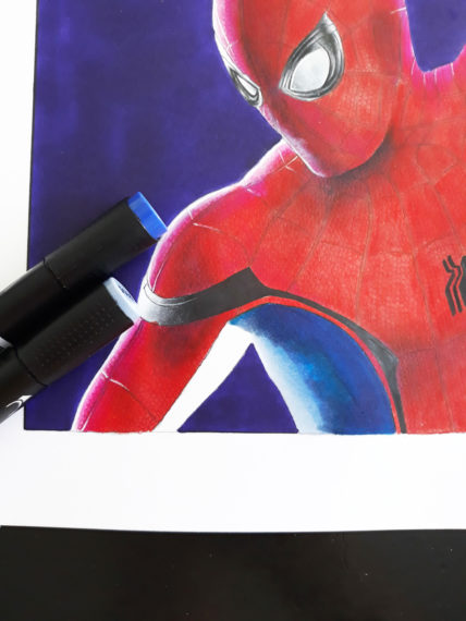 tuto graphit spiderman