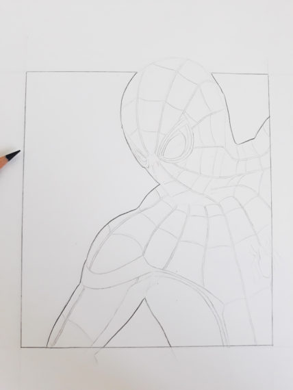 contour spiderman