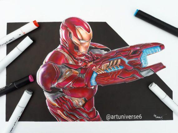 Iron Man By Artuniverse6 Graph It Marker