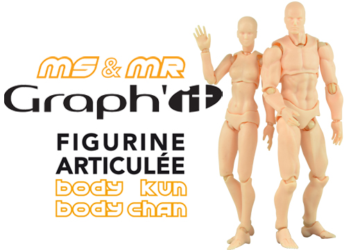 Figurines articulées Miss et Mister Graph'it